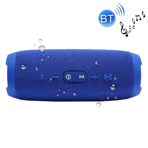 Charge3 Life Waterproof Bluetooth Stereo Speaker, Built-in MIC, Support Hands-free Calls & TF Card & AUX IN & Power Bank(Blue)