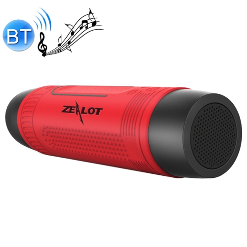 Zealot S1 Multifunctional Outdoor Waterproof Bluetooth Speaker, 4000mAh Battery, For iPhone, Galaxy, Sony, Lenovo, HTC, Huawei, Google, LG, Xiaomi, other Smartphones(Red)