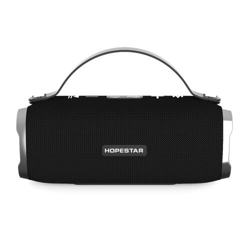 HOPESTAR H24 Mini Portable Rabbit Wireless Waterproof Bluetooth Speaker, Built-in Mic, Support AUX / Hand Free Call / FM / TF(Black) k1 portable 3w bluetooth v2 1 speaker w mic mini usb tf fm blue black silver