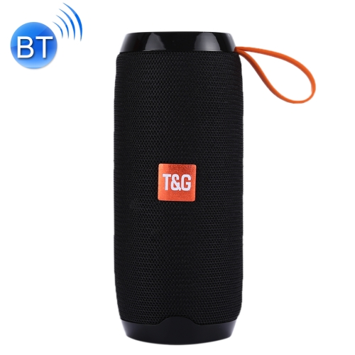 T&G TG106 Portable Wireless Bluetooth V4.2 Stereo Speaker with Handle, Built-in MIC, Support Hands-free Calls & TF Card & AUX IN & FM, Bluetooth Distance: 10m(Black) ecandy bluetooth speaker 6 hours of playing time built in mic for hands free speakerphone rechargeable wireless speaker aux line in