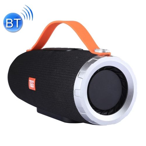 T&G TG109 Portable Wireless Bluetooth V4.2 Stereo Speaker with Handle, Built-in MIC, Support Hands-free Calls & TF Card & AUX IN & FM, Bluetooth Distance: 10m(Black) ecandy bluetooth speaker 6 hours of playing time built in mic for hands free speakerphone rechargeable wireless speaker aux line in