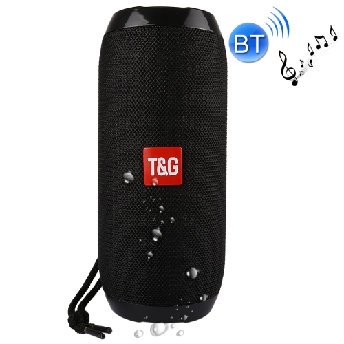 TG117 Portable Bluetooth Stereo Speaker, with Built-in MIC, Support Hands-free Calls & TF Card & AUX IN & FM, Bluetooth Distance: 10m(Black) symrun portable outdoor wireless bluetooth speaker sound support tf card usb fm digital screen aux in nfc app control alarm