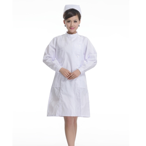 Buy Drugstore Working Clothes Long Sleeve Female Nurse Uniform, Size: S, Height: 155-165cm, White for $8.53 in SUNSKY store