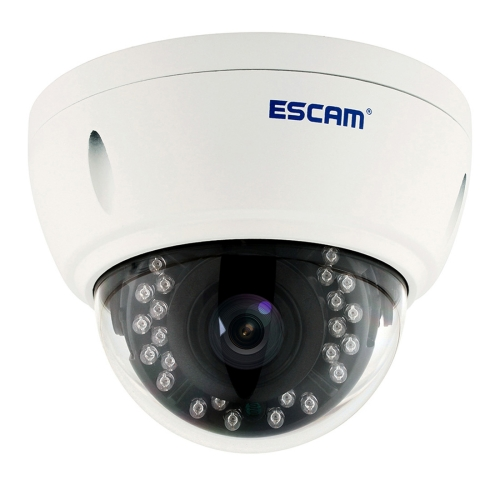 Buy ESCAM Dome QD420 Waterproof 4.0MP Dome IP Camera, Support Motion Detection / Night Vision, IR Distance: 15m for $100.93 in SUNSKY store