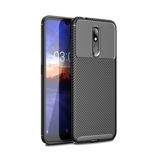Carbon Fiber Texture Shockproof TPU Case for Nokia 3.2 (Black)