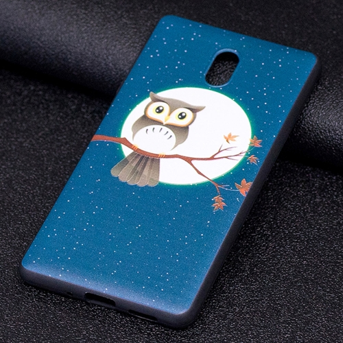 For Nokia 3 Owl Under the Moon Pattern Stereo Relief Soft TPU Protective Back Case under the moon stage 1 cd