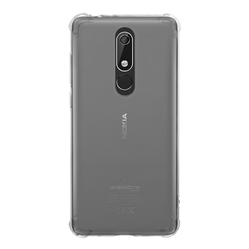 Shockproof TPU Protective Case for Nokia 5.1 Plus (X5) (Transparent)