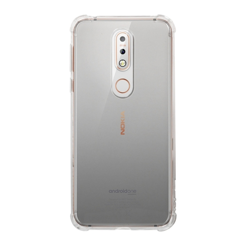 Shockproof TPU Protective Case for Nokia 7.1 (Transparent)