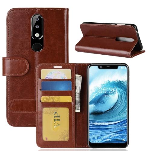 58f7ce0895 SUNSKY - Crazy Horse Texture Horizontal Flip Leather Case for Nokia ...