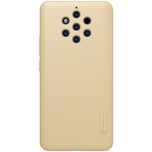 NILLKIN Frosted Concave-convex Texture PC Case for Nokia 9 PureView (Gold)