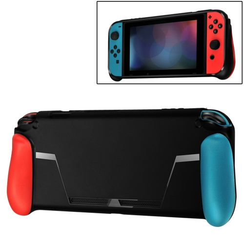 TPU Shell Handle Grip with Game Card Slot Anti-Shock Cover Silicone Case for Nintendo Switch