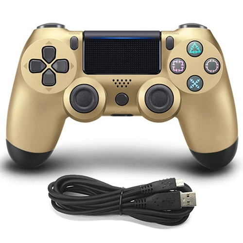 Wired Game Controller for Sony PS4(Gold) фото