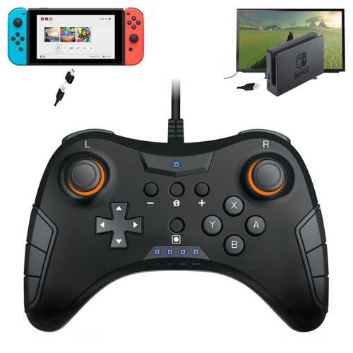 TNS-901 2 In 1 Wired Game Handle Controller for Nintendo Switch Pro