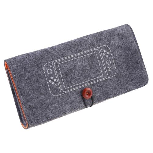 Portable Soft Felt Handbag Storage Protective Bag for Nintendo Switch(Dark Gray)
