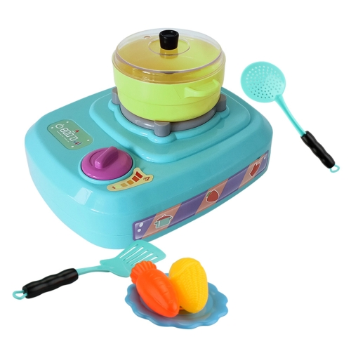 MoFun QC2B Electric Simulation Gas Stove Kids Toys Set with Colorful Lights & Ringtone & Fogging Function (Green)