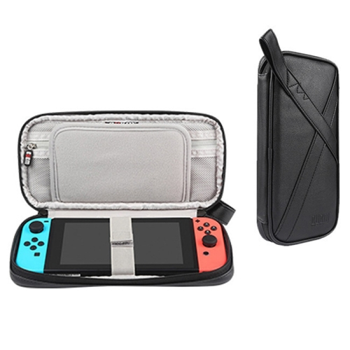 BUBM Multi-function Portable Game Machine PU Storage Bag Protective Box for Nintendo Switch(Black)