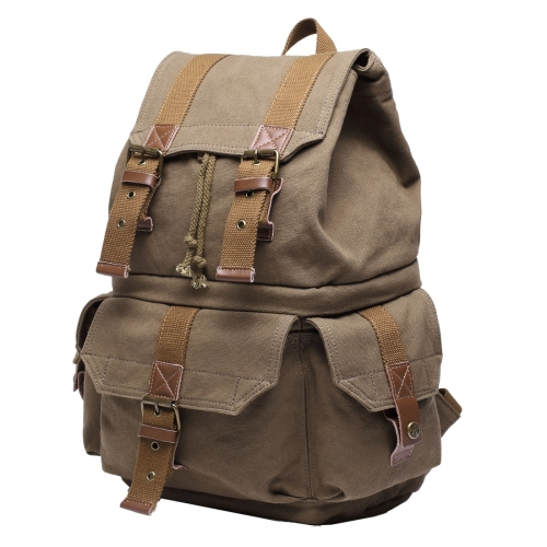 Buy Multifunction Canvas Backpack Shoulders Bag Cameras Bags Travel Outdoor Bag with Interior Lining & Rain Cover, Size: 43x33x20cm (Army Green) for $29.13 in SUNSKY store