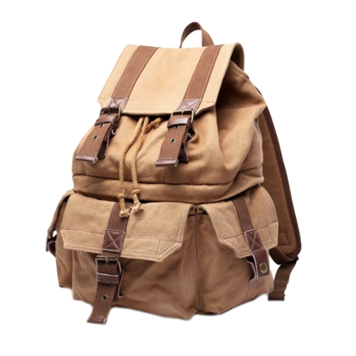 Buy Multifunction Canvas Backpack Shoulders Bag Cameras Bags Travel Outdoor Bag with Interior Lining & Rain Cover, Size: 43x33x20cm, Khaki for $29.13 in SUNSKY store