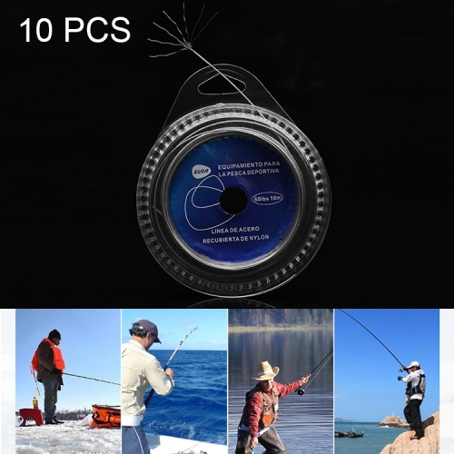 Buy 10 PCS 120 LBS 7 Strands Steel Braiding Fishing Line Sea Fishing Wire for $11.49 in SUNSKY store
