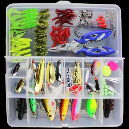 101 PCS Fishing Bait Lure Kit Fishing Tackle (White) фото