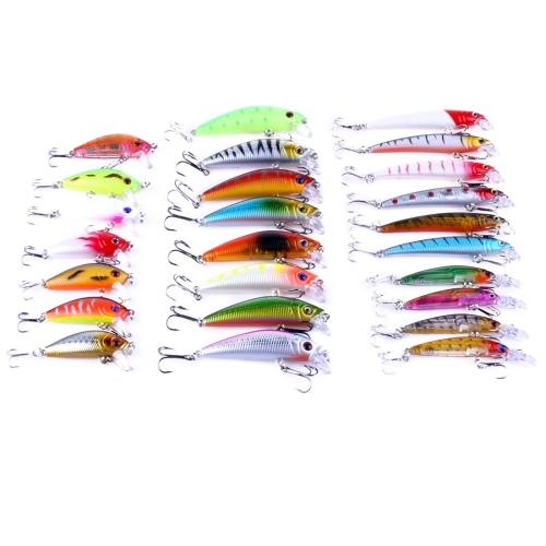 Buy 26 PCS Minnow Fishing Lure Set 4 Models Fishing Tackle Plastic Hard Bait for $14.32 in SUNSKY store