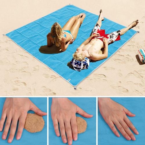 Sand Free Mat Lightweight Foldable Outdoor Picnic Mattress Camping Cushion Beach Mat, Size: 2x2m(Blue) фото