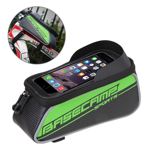 Buy BaseCamp BC-302 Bicycle Phone Bags Mountain Road Bike Front Head Top Frame Handlebar Bag with Transparent Window & Sun Visor for 12*7cm and Below Smartphones, Small Size, Green for $8.51 in SUNSKY store