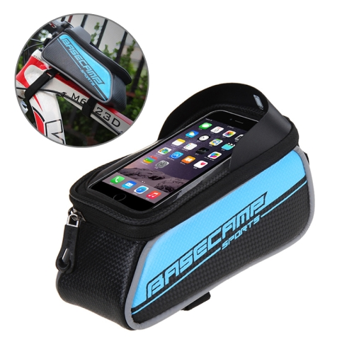 Buy BaseCamp BC-302 Bicycle Phone Bags Mountain Road Bike Front Head Top Frame Handlebar Bag with Transparent Window & Sun Visor for 12*7cm and Below Smartphones, Small Size, Blue for $8.51 in SUNSKY store