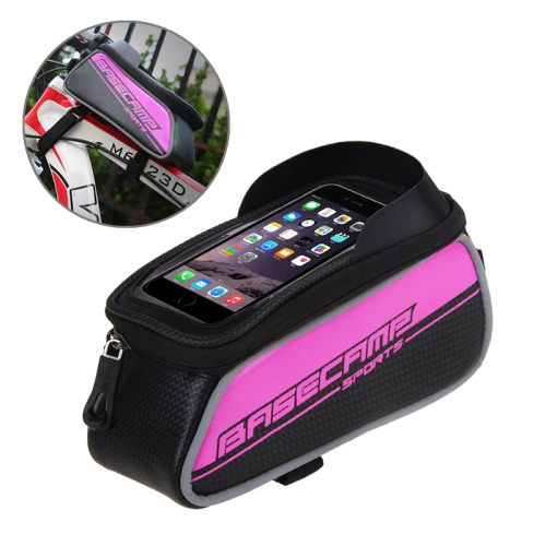 Buy BaseCamp BC-302 Bicycle Phone Bags Mountain Road Bike Front Head Top Frame Handlebar Bag with Transparent Window & Sun Visor for 12*7cm and Below Smartphones, Small Size, Magenta for $8.51 in SUNSKY store