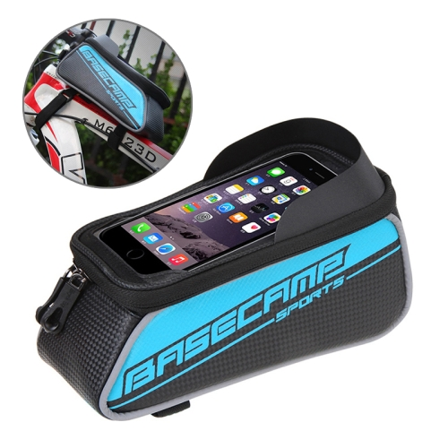 Buy BaseCamp BC-302 Bicycle Phone Bags Mountain Road Bike Front Head Top Frame Handlebar Bag with Transparent Window & Sun Visor for 15*8cm and Below Smartphones, Big Size, Blue for $8.52 in SUNSKY store