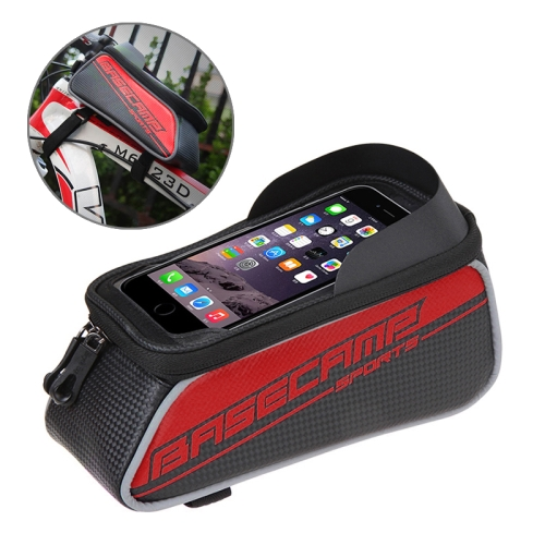 Buy BaseCamp BC-302 Bicycle Phone Bags Mountain Road Bike Front Head Top Frame Handlebar Bag with Transparent Window & Sun Visor for 15*8cm and Below Smartphones, Big Size, Red for $8.52 in SUNSKY store
