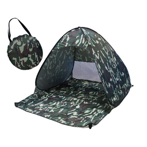 Buy Foldable Free to Build Automatic Quick Speed Open Outdoor Camping Beach Tent with Carrying Bag for 2 Adult or 3 Children Use, Size: 1.65x1.5x1.1m, Camouflage for $13.79 in SUNSKY store