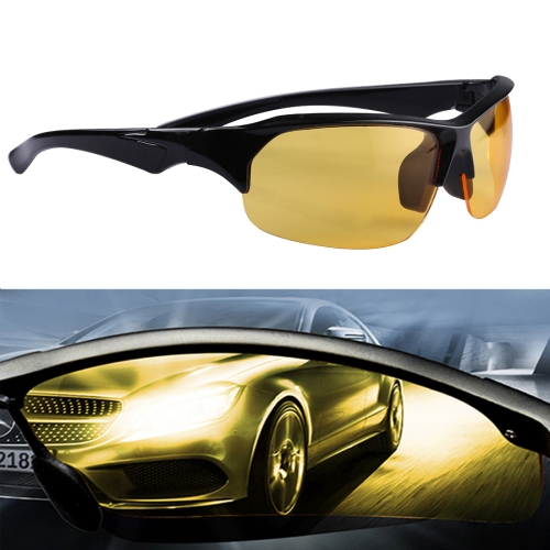 Yellow Lens Anti Glare Night Vision Glasses Safety Driver Sunglasses for Men / Women transparency anti uv safety glasses yellow work protective airsoft goggles uvex gafas eyeglasses cycling eyewear goggles8001