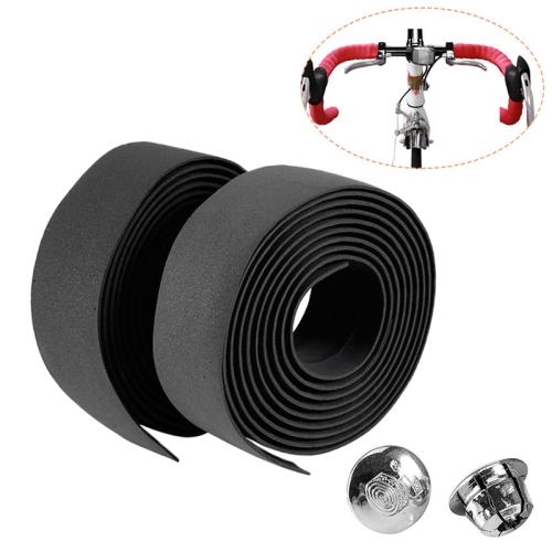 1Pair Bicycle Handlebar Tape Plug Rubber Anti-skip Bike Plugs For Handlebar RF