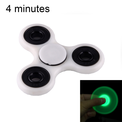 Fidget Spinner Toy Stress Reducer Anti-Anxiety Toy for Children and Adults, 4 Minutes Rotation Time, Fluorescent Light, Hybrid Ceramic Bearing + POM Material(Grey) 627 full zro2 ceramic deep groove ball bearing 7x22x7mm good quality