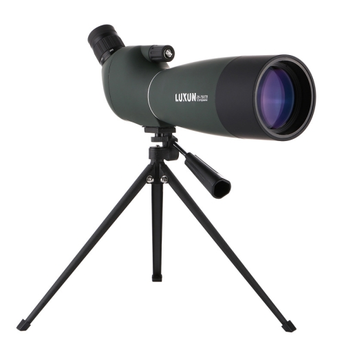 LUXUN 25-75x70 Outdoor High-definition Night Vision Bird Watching Astronomical Telescope(Dark Green)
