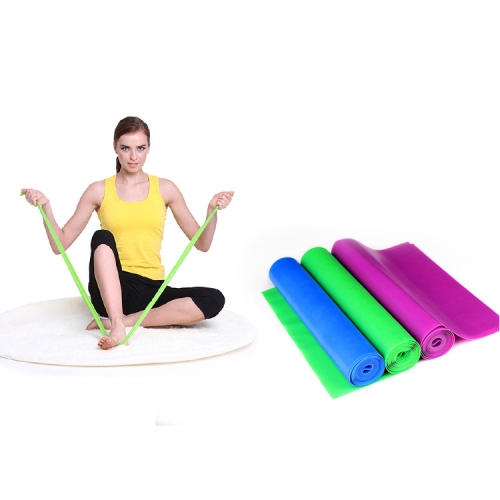 Buy Fitness Equipment Elastic Exercise Resistance Bands Workout Pull Stretch Band Sports Gym Yoga Tools,Size:1.5m*15cm*0.35mm, Random Color Delivery for $1.55 in SUNSKY store