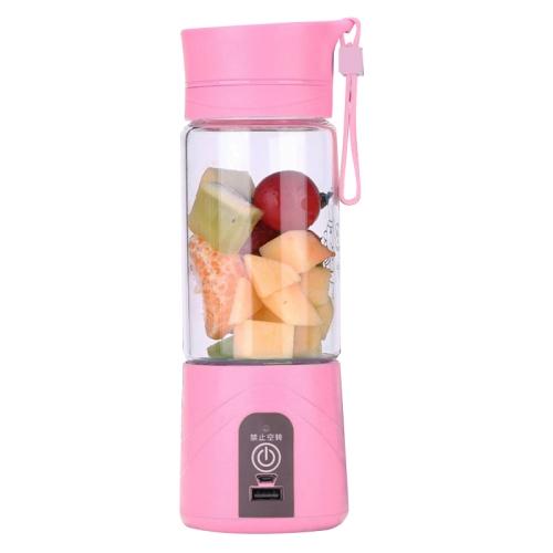 380ml Multifunctional Portable Rechargeable Electric Water Bottle Juicer Juice Extractor Fruit Vegetable Milk Shake Squeezer Phone Power Bank with 2200mAh ...
