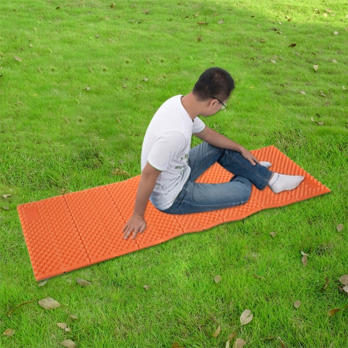 Buy Naturehike Outdoor Camping Aluminum Film IXPE Moisture-Proof Mattress Egg Slot Folding Sleeping Pad Yoga Mat, Size: 183x57cm, Orange for $17.48 in SUNSKY store