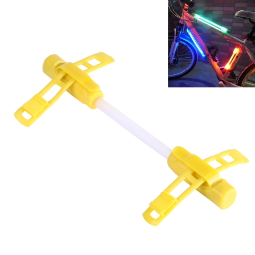 Buy Bicycle Glo-sticks Light Strip Lamp Safety Warning LED Light Side Light with Lighting / Fast Flashing / Slow Flashing Modes, Yellow for $3.72 in SUNSKY store