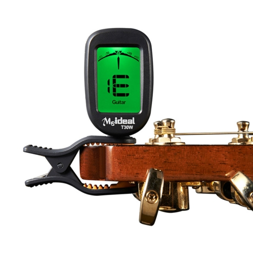 Guitar Tuner Clip on-Accurate Chromatic, Acoustic Guitar Bass Banjo Violin Ukulele Tuner(Black)