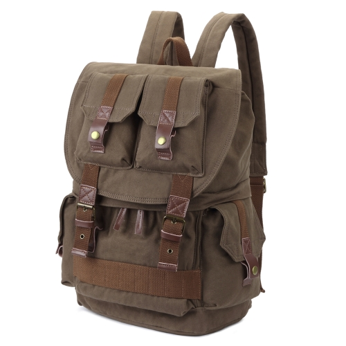 Multifunction Canvas Backpack Shoulders Bag Cameras Bags Outdoor Sports Bag with Interior Lining & Rain Cover, Size: 45x33x20cm (Army Green)