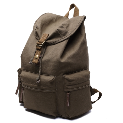 Buy Multifunction Canvas Backpack Shoulders Bag Cameras Bags Outdoor Sports Bag with Interior Lining & Rain Cover, Size: 50x37x15cm (Army Green) for $26.90 in SUNSKY store