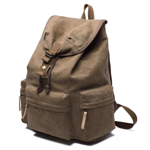 Buy Multifunction Canvas Backpack Shoulders Bag Cameras Bags Outdoor Sports Bag with Interior Lining & Rain Cover, Size: 50x37x15cm, Coffee for $26.90 in SUNSKY store
