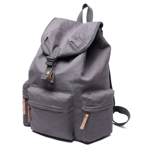 Buy Multifunction Canvas Backpack Shoulders Bag Cameras Bags Outdoor Sports Bag with Interior Lining & Rain Cover, Size: 50x37x15cm, Grey for $26.90 in SUNSKY store