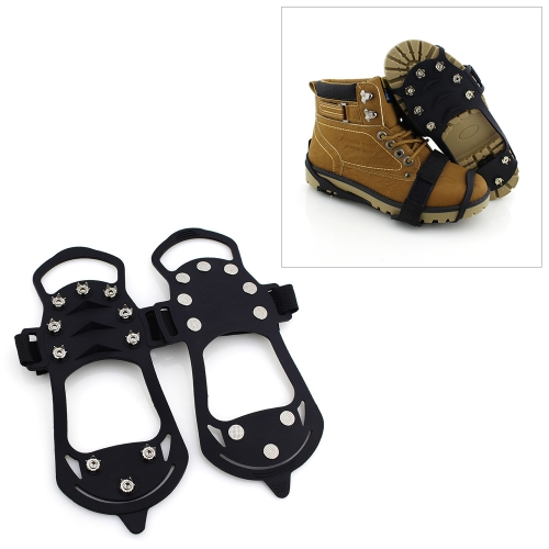10 Teeth Ice Claw Outdoor Non-slip Shoes Covers for Ice Snow Ground, Size : M