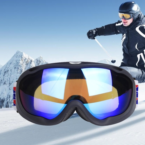 Buy H002 Unisex Dual Layers Anti-fog Windprooof UV Protection Spherical Goggles with Adjustable Strap, Black for $21.96 in SUNSKY store