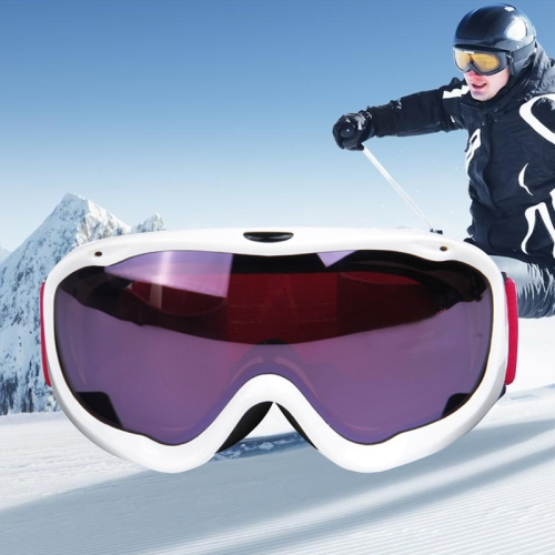 Buy H002 Unisex Dual Layers Anti-fog Windprooof UV Protection Spherical Goggles with Adjustable Strap, White for $21.96 in SUNSKY store