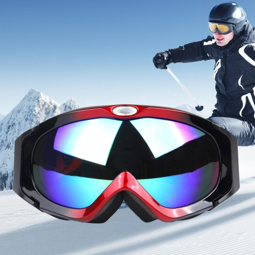 Buy H003 Unisex Dual Layers Anti-fog Windprooof UV Protection Spherical Goggles with Adjustable Thickened Strap (Red+Black) for $14.57 in SUNSKY store