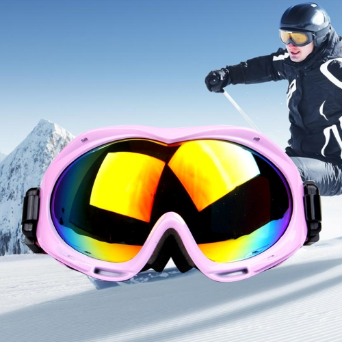 Buy H017 Unisex Dual Layers Anti-fog Windprooof UV Protection Spherical Goggles with Adjustable Widened Strap, Pink for $18.37 in SUNSKY store